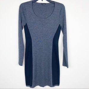 Theory wool long sleeve bodycon dress, Size M